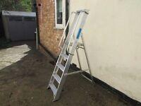five tread aluminium steps