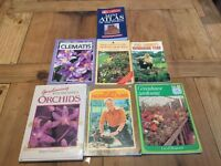 Collection of old gardening books and atlas