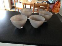wedding glass vases (set of 4)
