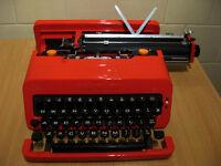 Classic 1960s Red Olivetti Valentine Portable Typewriter