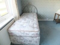 Well Looked After Two Drawer Single Divan Bed