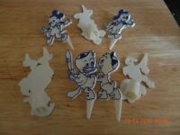 7 Disney Cake Candle Holders REDUCED