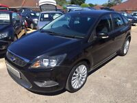 2009/09 FORD FOCUS 1.6 TDCI DPF TITANIUM,METALLIC BLACK,GREAT SPEC,£30 ROAD TAX,LOOKS+ DRIVES WELL