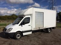 MERCEDES SPRINTER 313 CDI DIESEL 2012 12-REG 13FT 6 LUTON WITH TAIL-LIFT DRIVES EXCELLENT