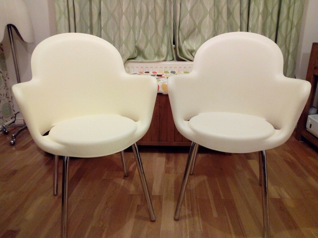 Designer Italian Chairs. Moulded Polypropylene. Chrome Legs. Strong & Comfortable.