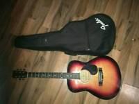 Martin smith guitar with case