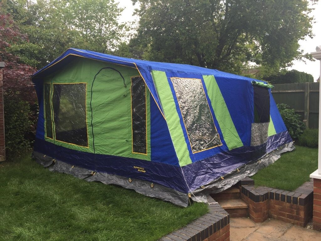 Sunncamp Manoir 6 berth frame tent - Used once for 9 days | in ...