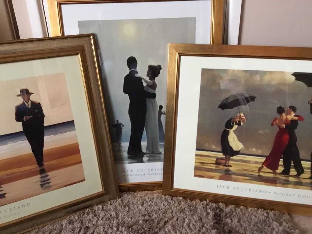 Bargain stunning framed prints under glass ready to hang