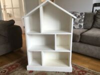 Children's white character book case