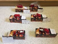 Collection of 6 die cast Matchbox Models of Yesteryear fire engines in boxes
