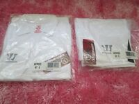 Warrior men kit shirt+shorts size S Brand New in Bag white colour