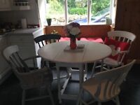 Shabby Chic Kitchen Table & Chairs.