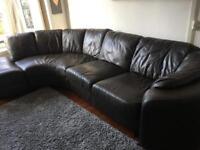 Large 5 seater leather corner sofa