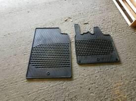 Rubber mats smart car