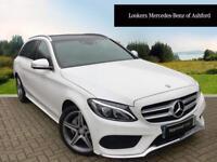 Mercedes-Benz C Class C220 BLUETEC AMG LINE PREMIUM (white) 2014-10-31