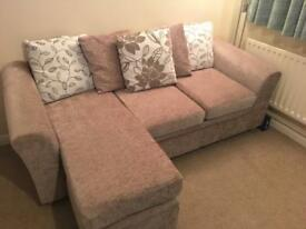 3 seater bed and 3 seater movable corner storage unit