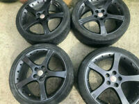 18 jaguar borbet alloy wheels X type 5 x 108 focus mondeo connect van volvo etc