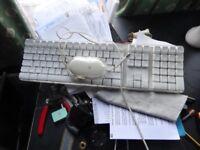 Genuine APPLEKEYBOARD AND MOUSE DUO SETS wired USB keyboard , White Keys
