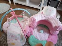Butterfly dreams.. sit me up cosy, playmat and 0 -6 months sleeping bag.. perfect condition. pick up