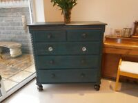 Beautiful Antique Victorian Shabby Chic Chest of Drawers