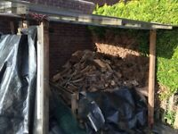 Large pile of Seasoned logs for sale