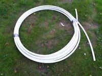 Reel of 22mm plastic pipe