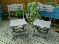 ALLIBERT TACOMA CAPPUCCINO FOLDING BISTRO CHAIRS