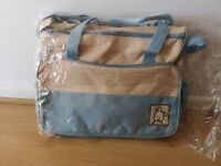 Baby Travel Bag in Baby blue (NEW) - 4 items