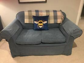 Blue 2 seater sofa - good condition