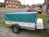 1999 pennine aztec folding camper 4 birth tow with small car.