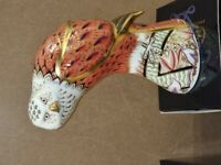 Very Rare Boxed Royal Crown Derby Red Kite (BIRD) Paperweight - large -