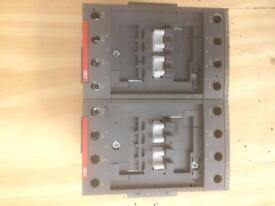 2x ABB AF52-40-00-13 contactors each with CAL 4 auxiliary contact block