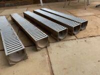 Aco drains (5 x 1 metre)