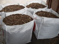 Wood Chippings– Similar to Bark Mulch Wood Chip Garden Landscaping Weed Membrane Plants Flowers
