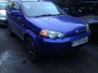 honda hrv 1999 1.6 petrol 3dr blue - breaking for spares *wheel nut*