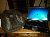 Dell laptop and laptop bag.