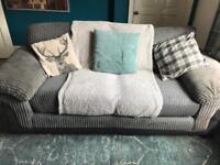 2/3 seater grey sofa