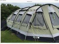 Outwell Norfolk lake Family 8 berth ,3 bedroomed poly cotton tunnel tent