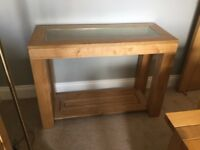 Marks & Spencer glass topped console table