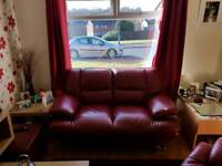 Three seater and large chair