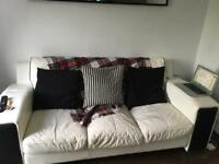 Fridge freezer washing machine and two and three seater leather sofa for sale
