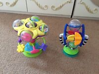 2 High Chair Toys - High Quality Toys - Excellent Condition - As New