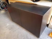 Cupboard, sideboard, tv cabinet ikea besta black brown