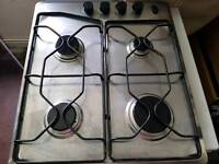 Gas hob stainless steel, Works perfectly