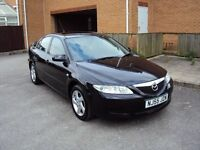 MAZDA 6 TS2 TD 2.0 DIESEL 5DR HATCHBACK LOW MILEAGE LEATHER SEATS EXTRAS F.S.H+LONG MOT 2KEYS £2100