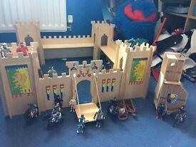 Children's child castle dragon knight Catapault
