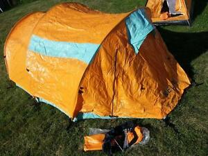 NEW but opened package tents and air mattresses
