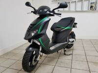 As New Piaggio NRG 50. Late 2017. 100 Miles Only. 300 pounds of Mallosi Parts Extras.Lovely Scooter