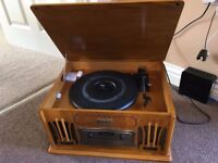 Classic Collector's Edition Turntable/Radio/CD/Cassette player
