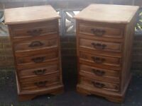 Pair of beautiful solid wood mango chest of drawers